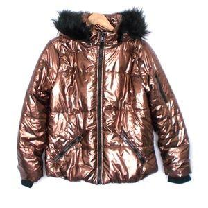 Urban Republic Metallic Brown Puffer Jacket